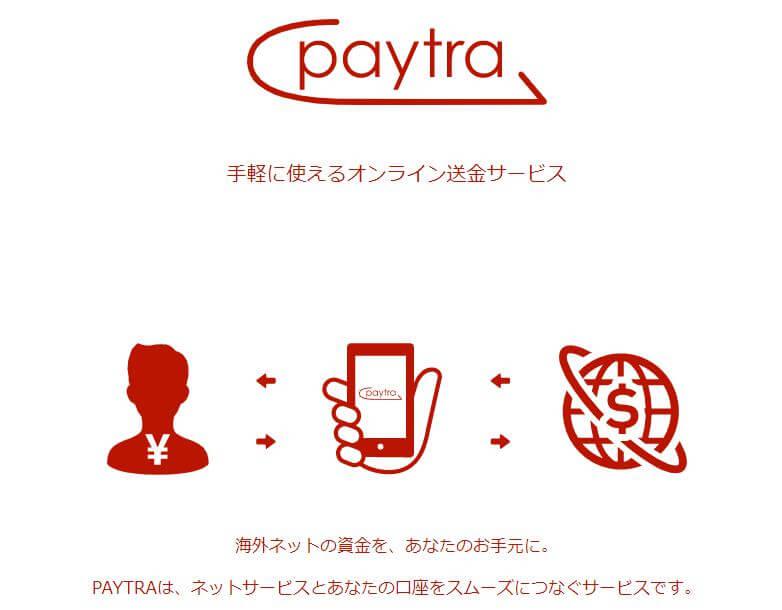 オンラインカジノに出金もできる入金方法のpaytra(ペイトラ)